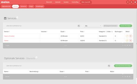 Widget konfigurieren, mehr Buchungen erhalten